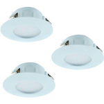 REA! Eglo 95807 LED-Spotlight 3-set Pineda 3X6W vit
