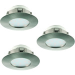 REA! Eglo 95809 LED-Spotlight 3-set Pineda 3X6W stål