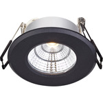 Markslöjd Hades Downlight Svart fast LED 4W IP44