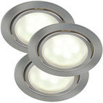 Nordlux Mercur 3-Kit LED Downlight Borstat stål 3x1,2W G4 IP44
