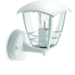 LjusREA! Philips myGarden Creek Vägglampa Vit 1x60W E27 IP44