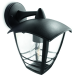 LjusREA! Philips myGarden Creek Vägglampa Svart 1x60W E27 IP44