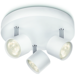 LjusREA! Philips myLiving Star Taklampa Vit 3x4W LED IP20