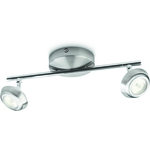 SuperREA! Philips myLiving Sepia Taklampa Nickel 2x4W LED IP20