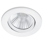 Super-REA! Trio LED-downlight Pamir Ø85x54mm matt vit IP23